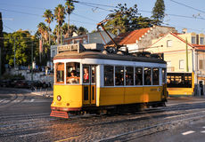 Tramway de Lisbonne Photo stock