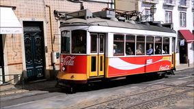 Tramway de Lisbonne banque de vidéos