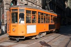 tramway de Milan Photographie stock libre de droits