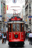 Tramway de place de Taksim Photos stock