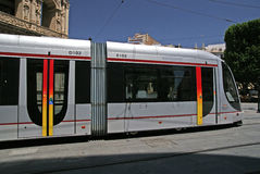 Tramway de Séville Photo libre de droits