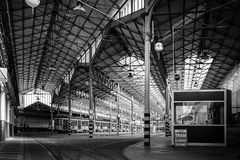 Tramway depot Stock Photos