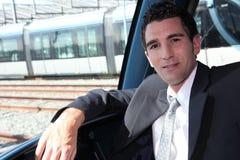 Tramway driver Royalty Free Stock Image