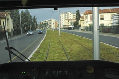 The tramway driver Stock Image