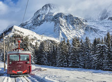 Tramway du Mont Blanc photographie stock
