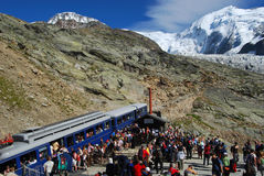 Tramway du mont blanc / nid d`aigle Stock Photography