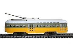tramway electrique jaune Stock Image