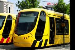Tramway français à Mulhouse Photos libres de droits