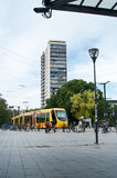 Tramway in front of train station Royalty Free Stock Photography