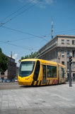 Tramway in front of the train station Stock Images