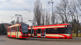 Tramway in Gdansk, Poland Royalty Free Stock Photo