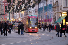 Tramway in Graz, Austria Royalty Free Stock Photos