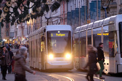 Tramway in Graz, Austria Stock Photos