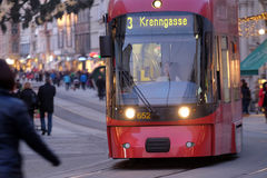 Tramway in Graz, Austria Royalty Free Stock Photography