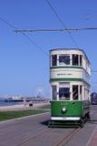 Tramway historique sur le bord de mer de Blackpool Images libres de droits