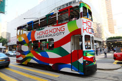 Tramway in Hong Kong Royalty Free Stock Photo