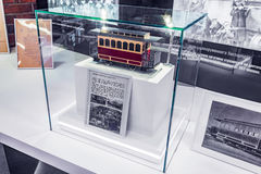 Tramway horse carriage model. Royalty Free Stock Photos