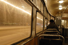 Tramway intérieur de Varsovie, Pologne. Image stock