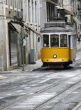 Tramway jaune Photos stock