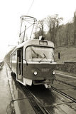 Tramway in Kiev, Ukraine (sepia) Stock Photography