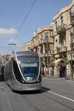 Tramway léger de longeron de Jérusalem Photos libres de droits