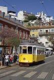 Tramway on Largo Porta do Sol Royalty Free Stock Photography
