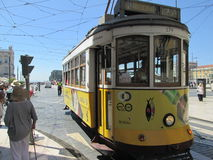 Tramway in Lisbon Royalty Free Stock Photo