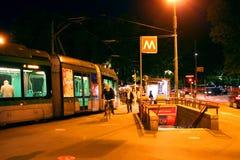 Tramway - Metro Milan Italy Stock Photo