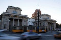 Tramway in milan Stock Photos