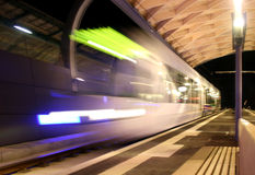 Tramway on the move. In Kassel, Germany stock images