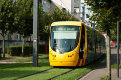 Tramway in Mulhouse - Alsace France Royalty Free Stock Photo