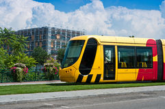 Tramway in Mulhouse - Alsace - France Stock Photo