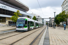 Tramway in Nantes, France Royalty Free Stock Photos
