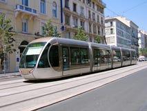 Tramway à Nice Photo libre de droits