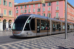 Tramway à Nice Photos stock