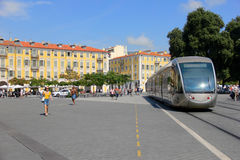 Tramway in Nice Stock Image