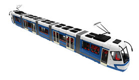 Tramway over white Royalty Free Stock Images