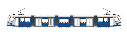 Tramway over white. Isolated long tramway on a white background Stock Image