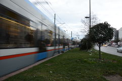 Tramway. That passes through Eminonu-Istanbul Stock Image