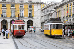 Tramway in Portugal Stock Photo