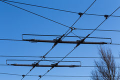 Tramway power line Royalty Free Stock Photography