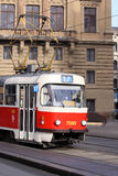 Tramway in Prague. Is going via the city Royalty Free Stock Photos
