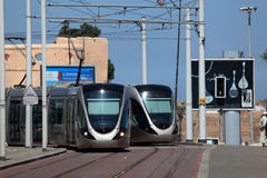 Tramway in Rabat, Morocco Stock Image