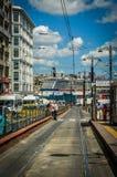 Tramway Road In Eminonu - Istanbul Stock Images