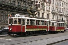 Tramway rouge Photographie stock libre de droits