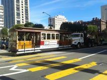 Tramway san francisco. Tramway in san francisco california Royalty Free Stock Images