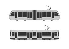 Tramway set stock illustration
