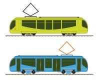 Tramway. Set public conveyances. EPS10, opacity Stock Image
