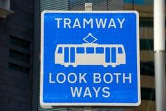Tramway sign, Birmingham. Stock Photo