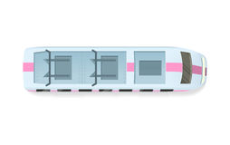 Tramway or Speed Train Top View Vector Icon Royalty Free Stock Photo